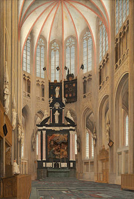Architectural Painting - Cathedral Of Saint John At 's-hertogenbosch by Pieter Jansz Saenredam
