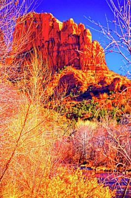 Cathedral Rock Art Print by Paul Kloschinsky