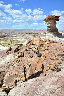 Photograph - Cathedral Valley Toadstool by Ray Mathis