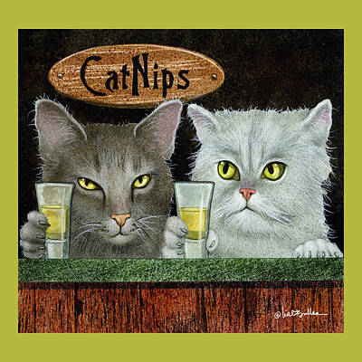 Painting - Catnips... by Will Bullas