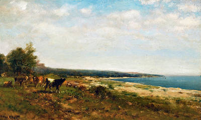 Photograph - Cattle Along The Waterside  by James McDougal Hart