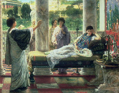 Catullus Reading His Poems Art Print by Sir Lawrence Alma-Tadema