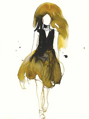 Stylish Drawing - Catwalk by Toril Baekmark
