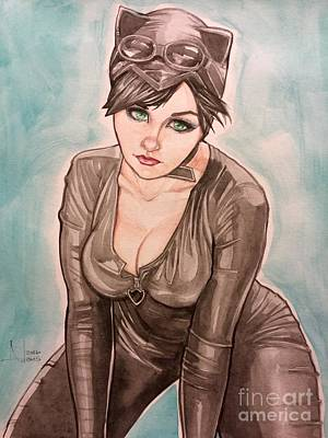 Painting - Catwoman  by Jimmy Adams
