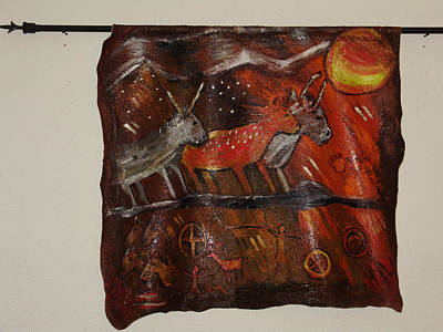Painting - Cave Art Wall Hanging by Shelley Bain