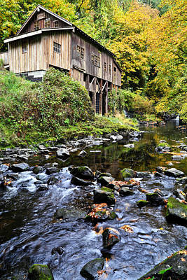 Photograph - Cedar Creek Grist Mill IIi by Athena Mckinzie