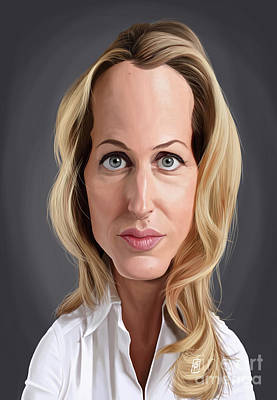 Digital Art - Celebrity Sunday - Gillian Anderson by Rob Snow