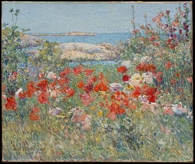 Celia Thaxter's Garden Isles Of Shoals Maine Original by Childe Hassam