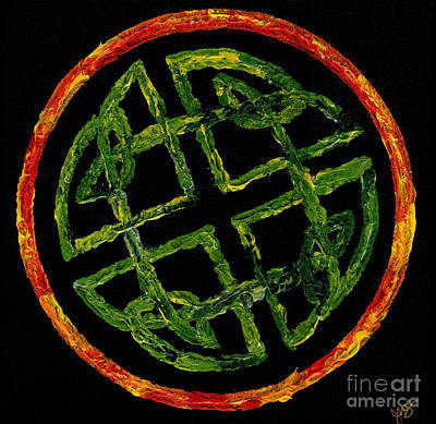 Painting - Celtic Knot by Julia Stubbe