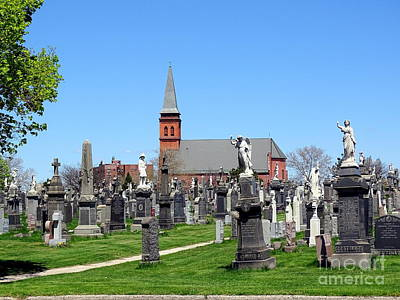 Photograph - Cemetery Scene by Ed Weidman