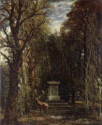 Cemetery Painting - Cenotaph To The Memory Of Sir Joshua Reynolds by John Constable