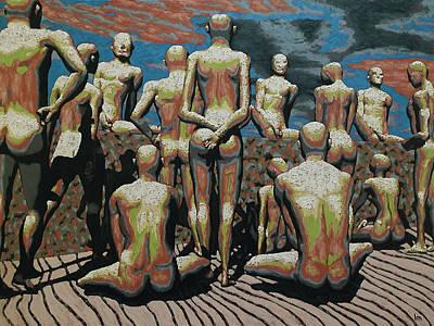 Censorship Hypocrisy Art Print by Leo Mazzeo