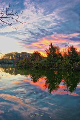 Art Print featuring the photograph Centennial Lake At Sunrise by Mark Dodd