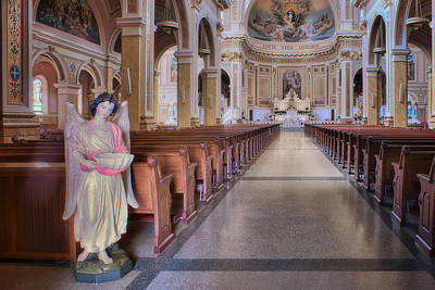 Photograph - Angel - Saint Mary Of The Angels - Chicago by Nikolyn McDonald
