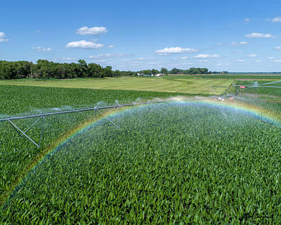 Photograph - Center Pivot Rainbow by Mark Dahmke