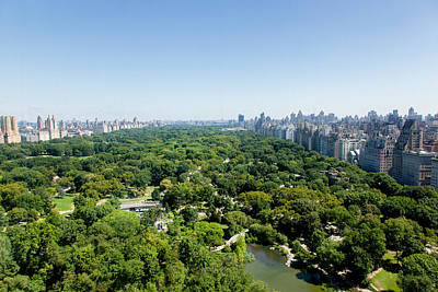 Empire State Building Photograph - Central Park Aerial View by Erin Cadigan