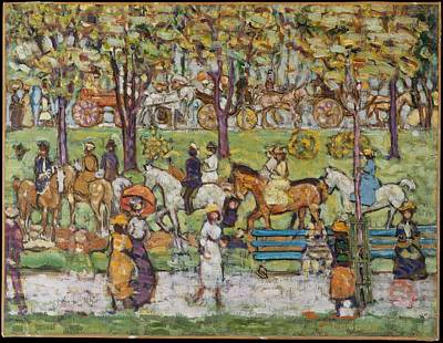 Painting - Central Park by  Maurice Brazil Prendergast
