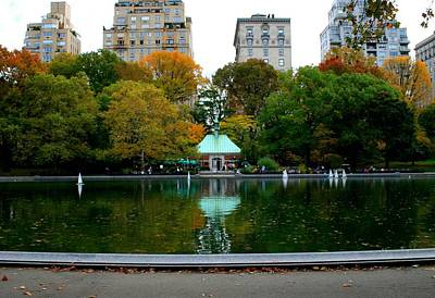 Photograph - Central Park Sailboat Lake by Christopher Kirby