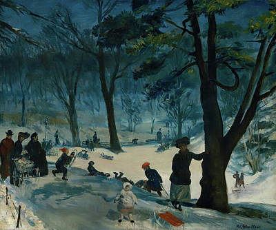 Painting - Central Park Winter by William Glackens