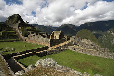 Photograph - Central Plaza At Machu Picchu by Aidan Moran