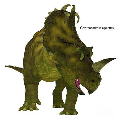 Centrosaurus Dinosaur Neck Frills Art Print