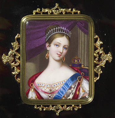 1819-1901 Painting - century Queen Victoria by MotionAge Designs