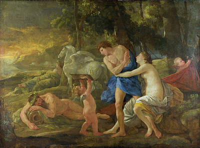 Poussin Painting - Cephalus And Aurora by Nicolas Poussin