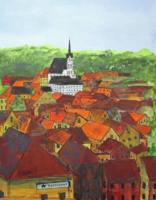 Painting - Cesky Krumlov by Jack G Brauer