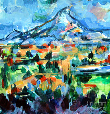 Mystical Landscape Mixed Media - Cezanne Mountain by Mindy Newman