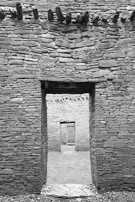 Chaco Canyon Photograph - Chaco Canyon Doorways 1 by Carl Amoth