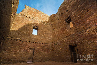 Photograph - Chaco Canyon - Pueblo Bonito - Multi-story Room 2 - New Mexico by Gary Whitton