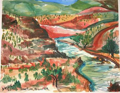 Chama River Painting - Chama River by Ted Gillespie