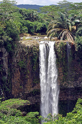 Photograph - Chamarel Waterfalls by Tony Murtagh