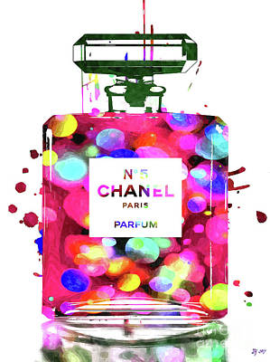 Mixed Media - Chanel Parfum by Daniel Janda