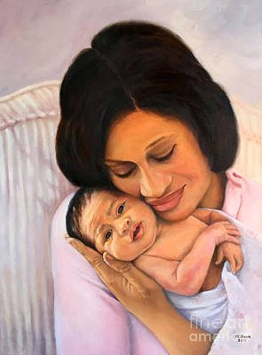 Painting - Chanelle And Kaycee Victoria by Marlene Book