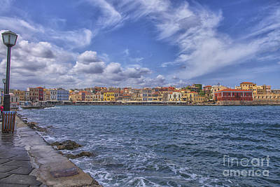 Chania On Crete In Greece Art Print