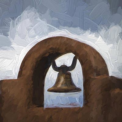 Chapel Bell Chimayo Painterly Effect Art Print by Carol Leigh