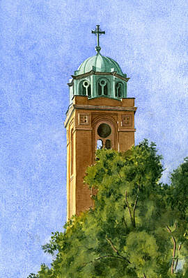 Painting - Chapel Bell Tower by Phyllis Martino