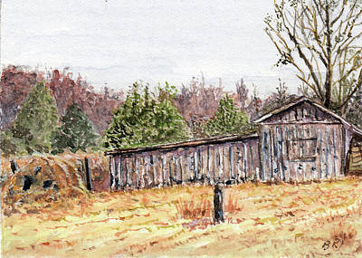 Painting - Chapel Hill Barn by Barry Jones