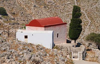 Photograph - Chapel In The Hills Of Halki by David Fowler