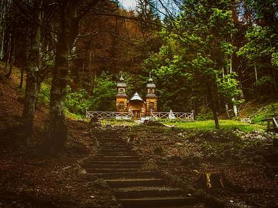 Photograph - Chapel In The Woods - Russia by Melanie Urhard