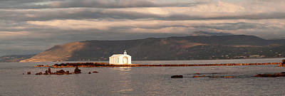 Agios Photograph - Chapel On A Rock In The Sea by Panoramic Images