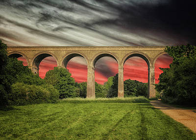 Mountain View Photograph - Chapel Viaduct Essex Uk by Martin Newman