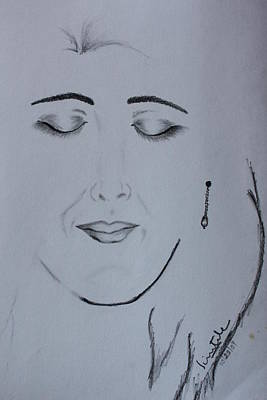 Eye Brows Painting - Charcoal Art by Scientila Duddempudi