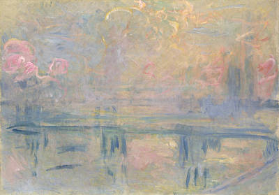 Mist Painting - Charing Cross Bridge by Claude Monet