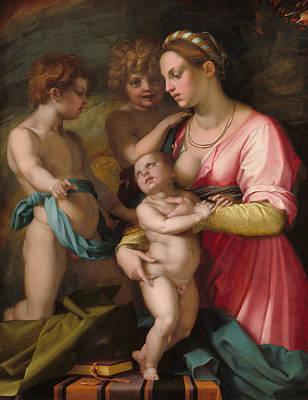 Sarto Painting - Charity by Andrea del Sarto