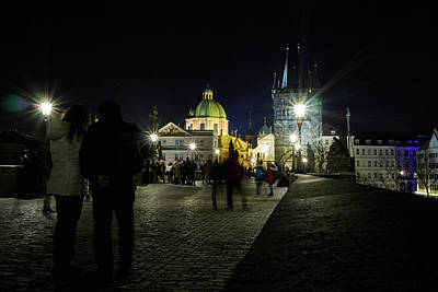 Photograph - Charles Bridge. Prague Spring 2017 . Prague By Night by Jouko Lehto