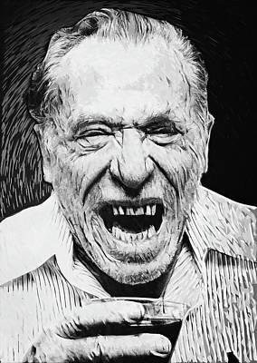 Pulp Fiction Digital Art - Charles Bukowski by Taylan Apukovska