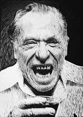 Old Man Digital Art - Charles Bukowski by Taylan Apukovska