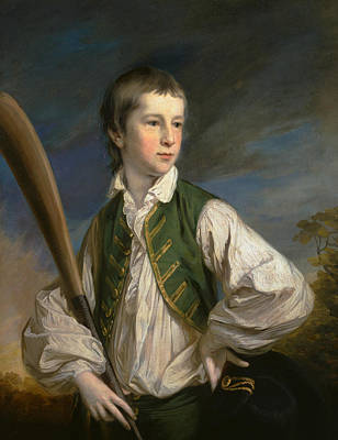 Painting - Charles Collyer As A Boy, With A Cricket Bat by Francis Cotes